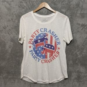 Lol Vintage white political party crasher tee